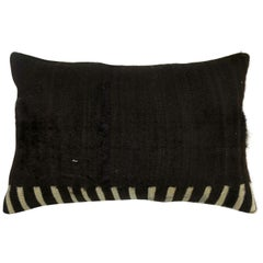 Minimal Mohair Lumbar Size Rug Pillow
