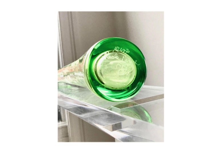 Italian studio art glass, modernist set of 2