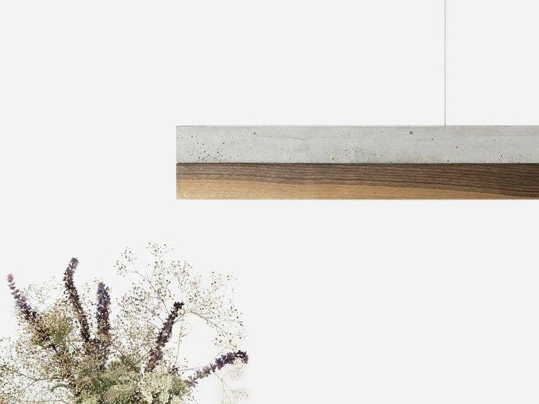 Minimal Nut and Light Concrete Pendant Light, Medium Contemporary Table Light For Sale 1