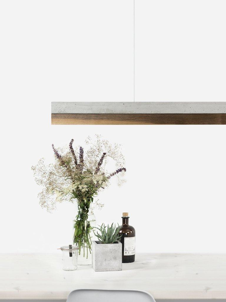 Minimal Nut and Light Concrete Pendant Light, Medium Contemporary Table Light In New Condition For Sale In London, GB