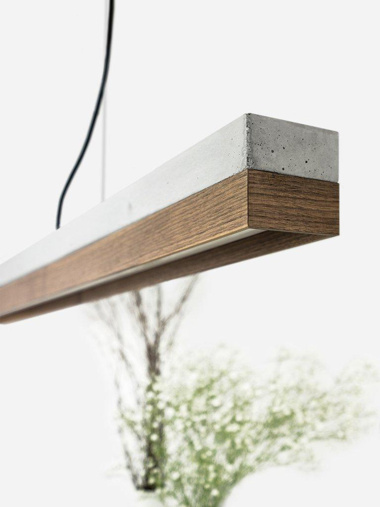 German Minimal Nut and Light Concrete Pendant Light, Medium Contemporary Table Light For Sale