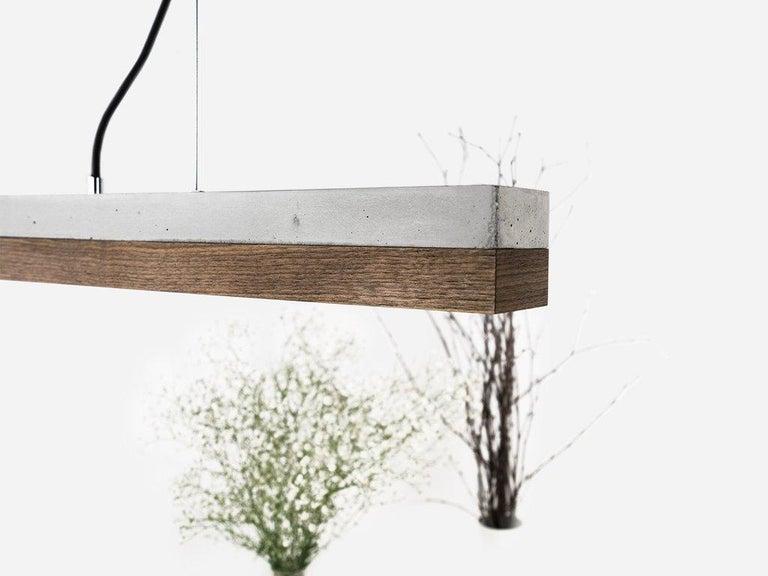 Modern Minimal Nut and Light Concrete Pendant Light, Medium Contemporary Table Light For Sale
