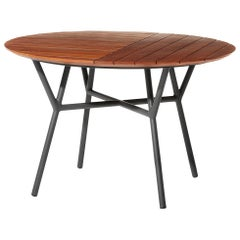 Minimal Style Round Tables in Metal and Solid Wood