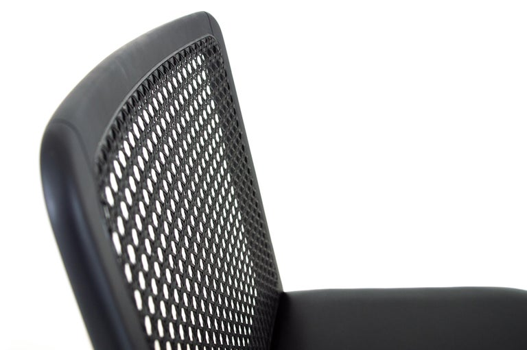 Contemporary Minimal Style, Solid Wood Chair, Leather or Textile Seating, Caning Backboard For Sale