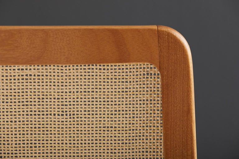 Minimal Style, Solid Wood Chair, Special Textile Seating, Caning Backboard For Sale 2