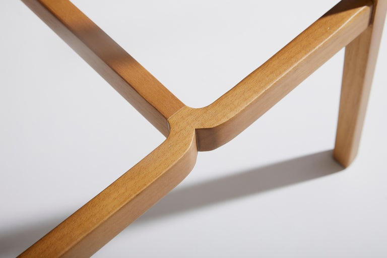 Contemporary Minimal Style, Solid Wood Stool, Textiles or Leather Seatings, Caning Backboard For Sale
