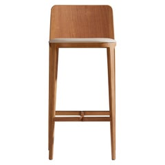 Minimal Style, Bar Stool in Solid Wood, Textiles or Leather Seatings