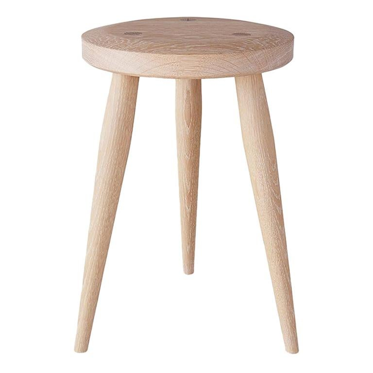 Minimal Three-Legged Stool by Coolican & Company For Sale