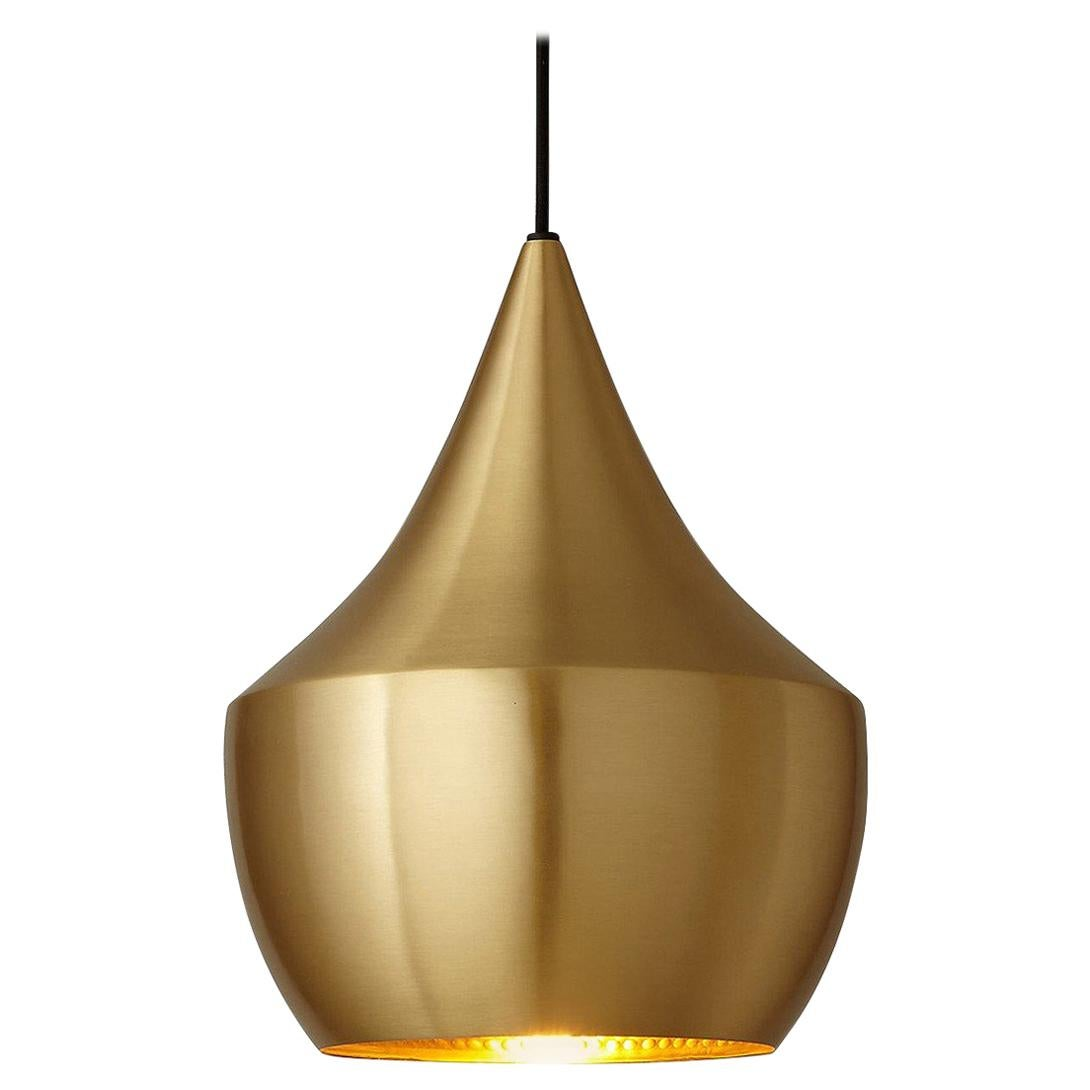 Minimal Tom Dixon Beat Fat Brass Pendant Gold Hammered Pendant Light Fixture