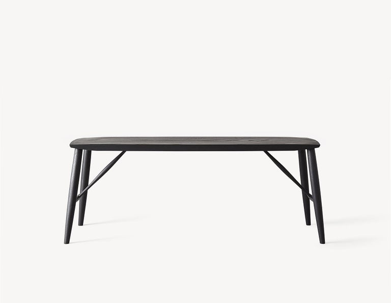 Canadian Minimal White Oak Bench by Coolican & Company For Sale
