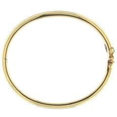 Minimal Yellow 18 Karat Gold Bracelet
