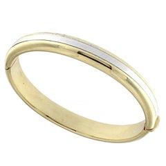 Minimal Yellow and White 18 Karat Gold Bracelet
