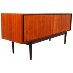 Minimalism Teak Sideboard or Credenza from the 1960s, Made in Denmark