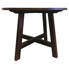 Minimalist 19th Century Italian Centre Table in Solid Walnut