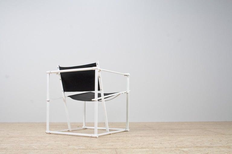 Dutch Minimalist Armchair in Black and White by Radboud Van Beekum for Pastoe, 1981 For Sale