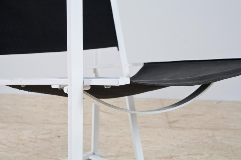 Lacquered Minimalist Armchair in Black and White by Radboud Van Beekum for Pastoe, 1981 For Sale