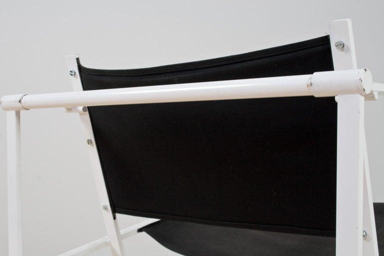 Minimalist Armchair in Black and White by Radboud Van Beekum for Pastoe, 1981 In Good Condition For Sale In Beek en Donk, NL