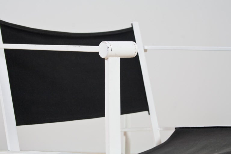 Late 20th Century Minimalist Armchair in Black and White by Radboud Van Beekum for Pastoe, 1981 For Sale