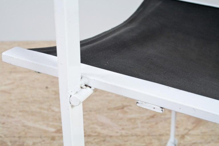 Minimalist Armchair in Black and White by Radboud Van Beekum for Pastoe, 1981 For Sale 2