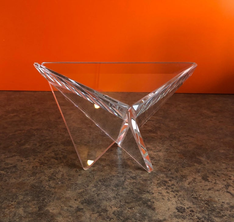 American Minimalist Art Glass Bowl by Silvey For Sale