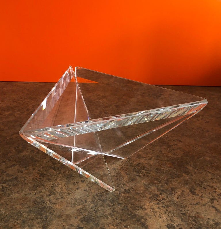 Minimalist Art Glass Bowl by Silvey In Good Condition For Sale In San Diego, CA