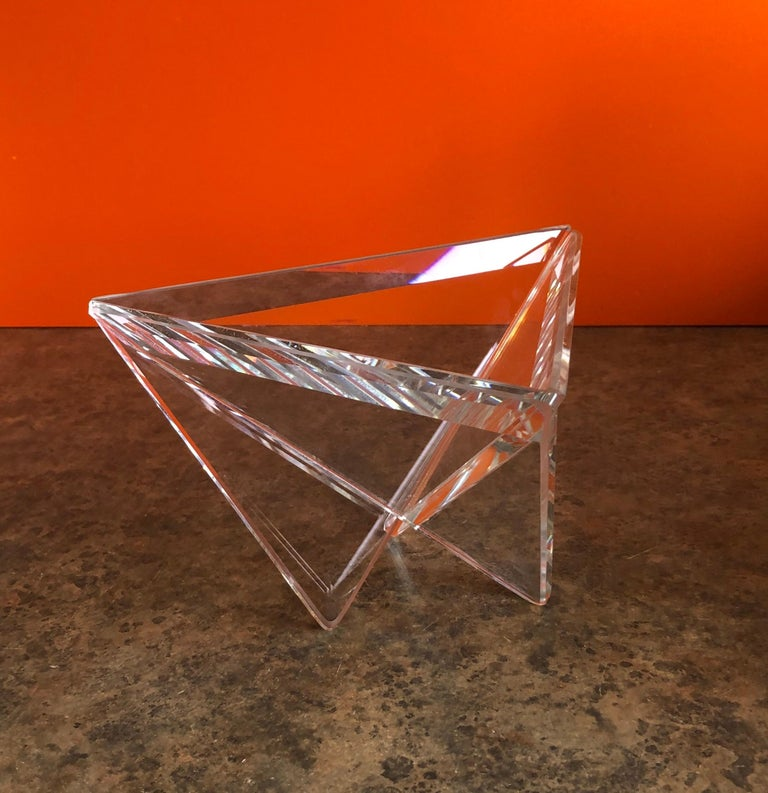 20th Century Minimalist Art Glass Bowl by Silvey For Sale
