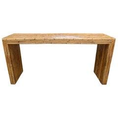 Minimalist Bamboo Console Table