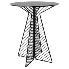 Minimalist Bar Table, Flat Pack Wire Cafe Bar Table in Black by Bend Goods