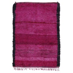 Minimalist Middle Atlas Moroccan Berber Purple Rug