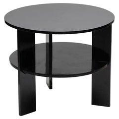 Minimalist Black Lacquer End Table