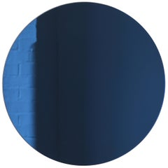 Minimalist Blue Tinted Wall Orbis Mirror Frameless, Customisable