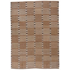 Minimalist Brown Toned Scandinavian Design Rug