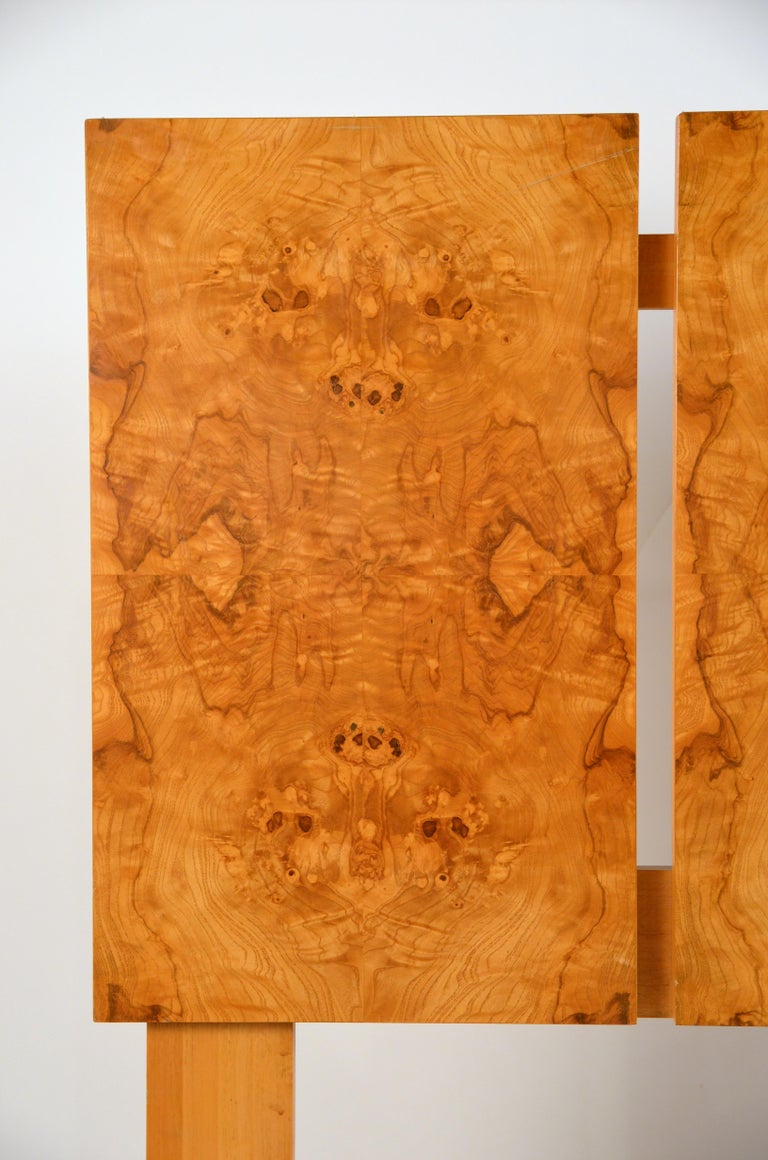 Veneer Minimalist Burl Wood Queen Size Headboard by Lane For Sale