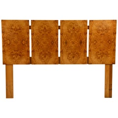 Minimalist Burl Wood Queen Size Headboard by Lane