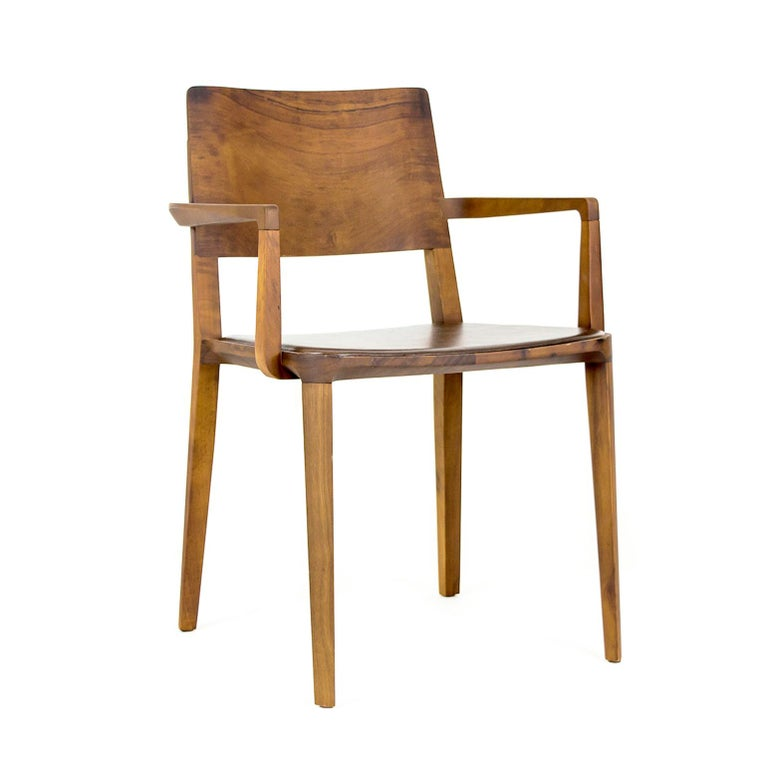 Minimalist Chair in Black Imbuia Hardwood Limited Edition For Sale 3