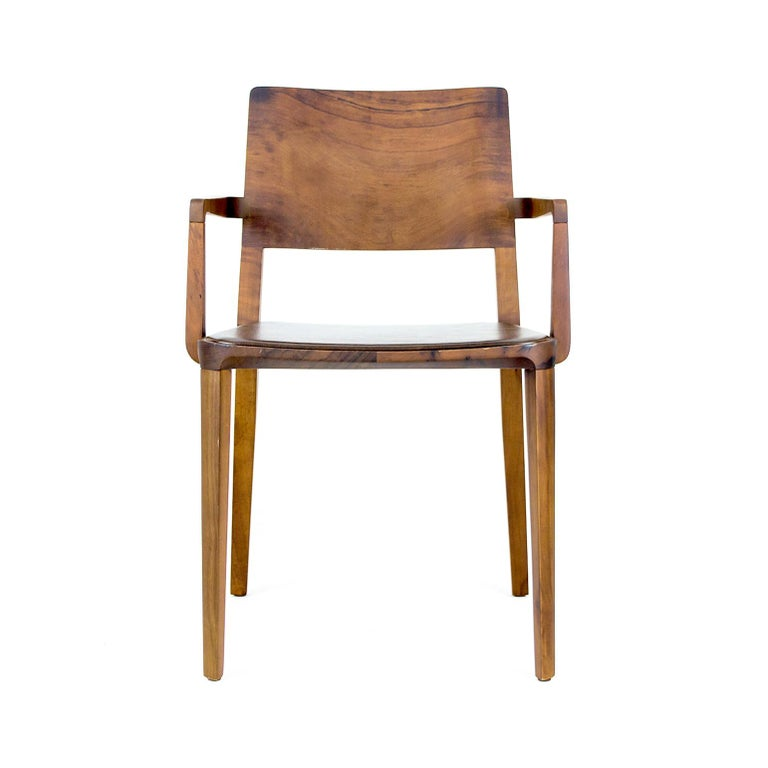 Minimalist Chair in Black Imbuia Hardwood Limited Edition For Sale 4