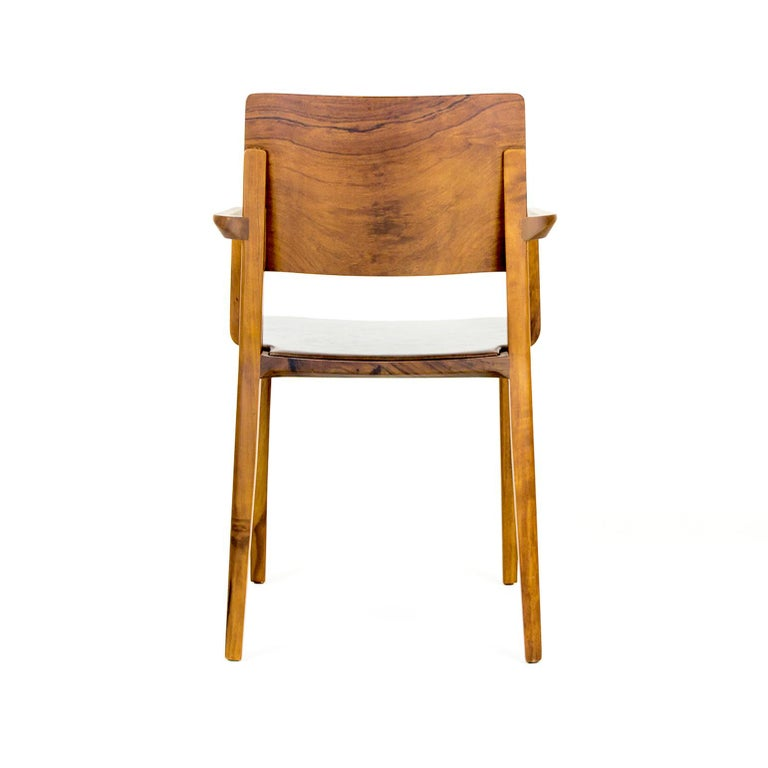 Minimalist Chair in Black Imbuia Hardwood Limited Edition For Sale 5