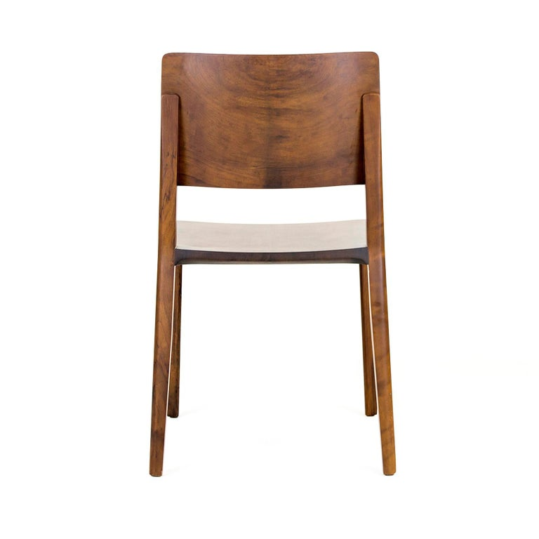 Modern Minimalist Chair in Black Imbuia Hardwood Limited Edition For Sale