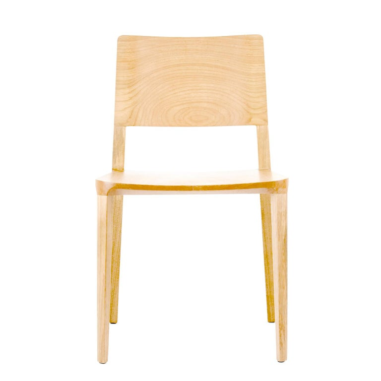 Minimalist Chair in Hardwood Solid Black without Arms In New Condition For Sale In Sao Paolo, SP