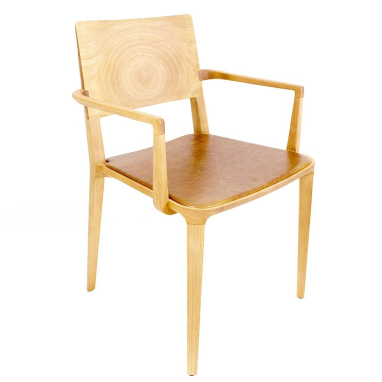 Minimalist Armchair in Hardwood For Sale at 1stdibs