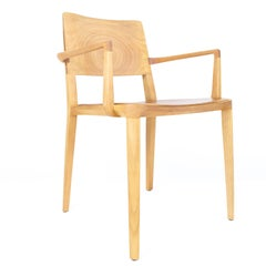 Minimalist Chair in Hardwood with Arms