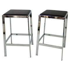 Minimalist Chrome Counter Bar Stools