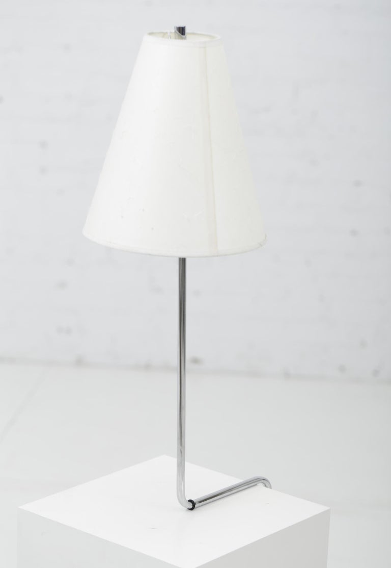 Minimalist Chrome Counterbalance Table Lamps For Sale 4