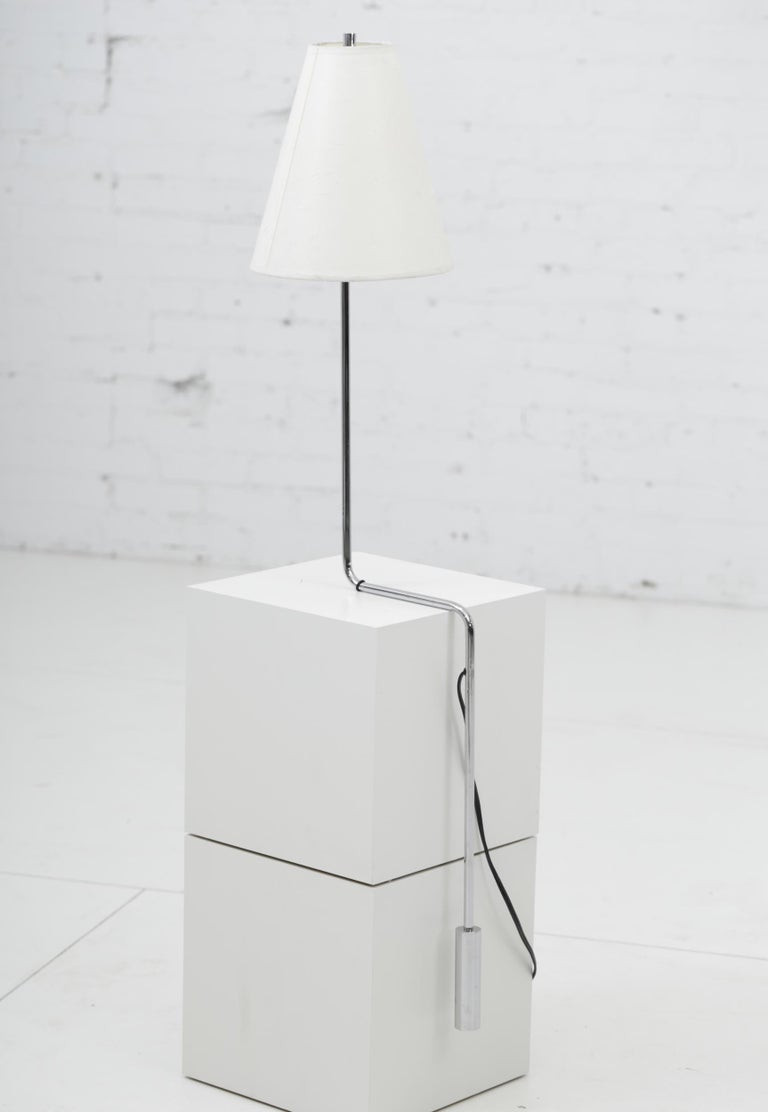 Minimalist Chrome Counterbalance Table Lamps For Sale 5