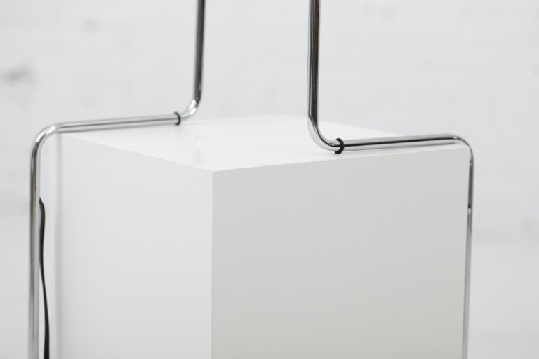 Minimalist Chrome Counterbalance Table Lamps For Sale 8