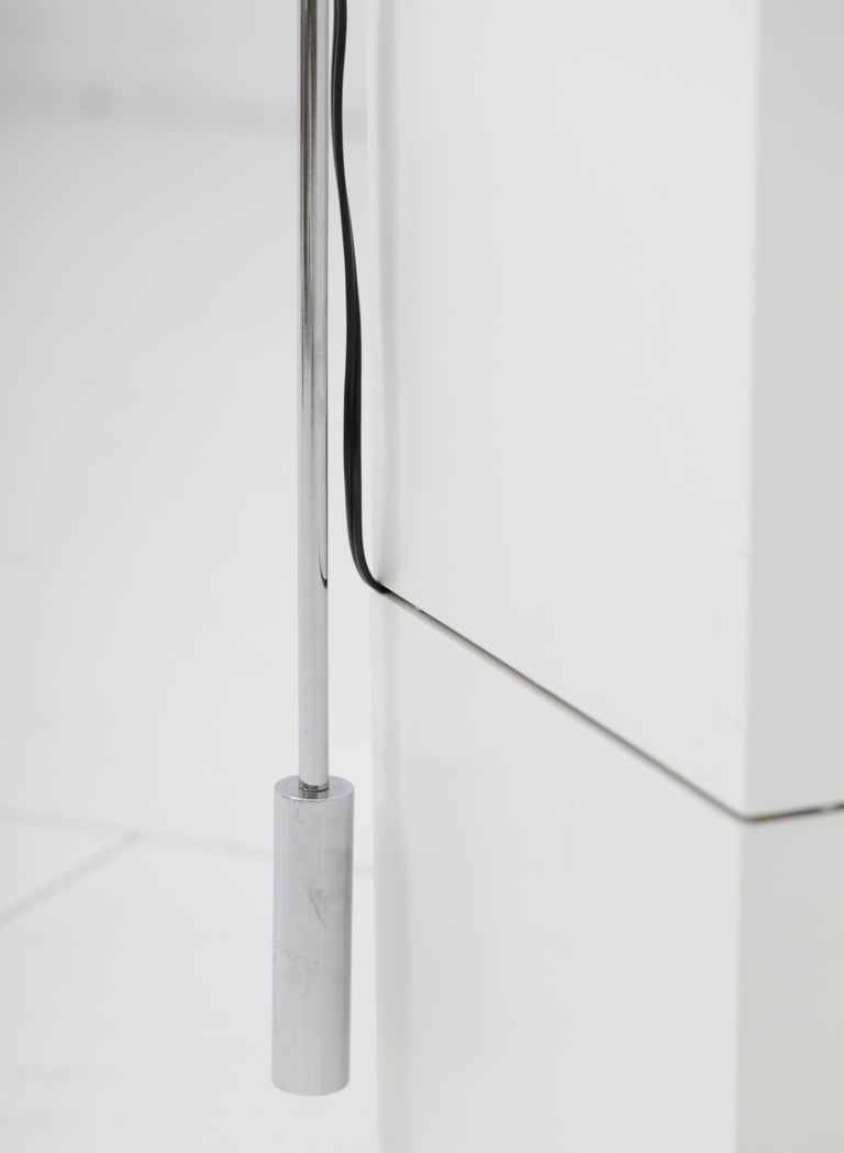 Minimalist Chrome Counterbalance Table Lamps For Sale 9