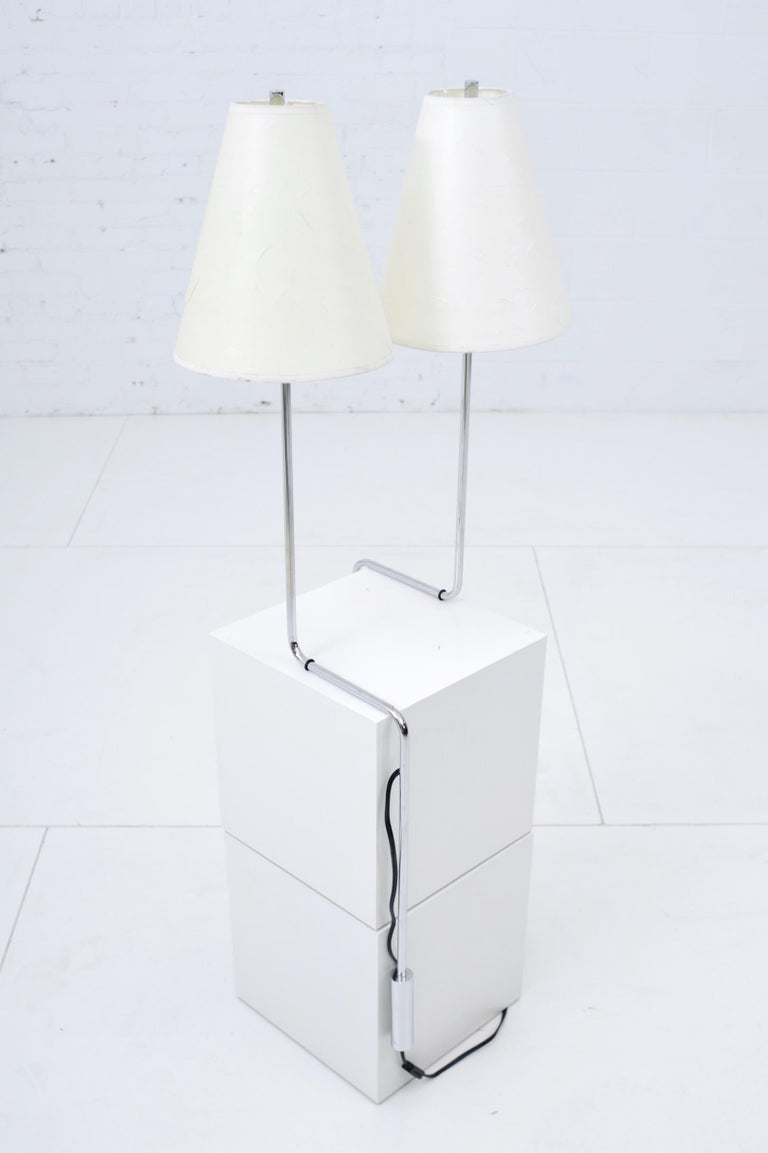 Modern Minimalist Chrome Counterbalance Table Lamps For Sale