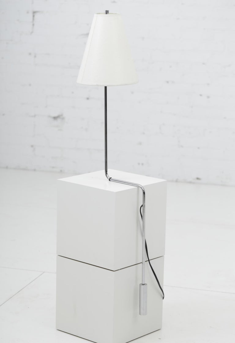 Minimalist Chrome Counterbalance Table Lamps For Sale 1