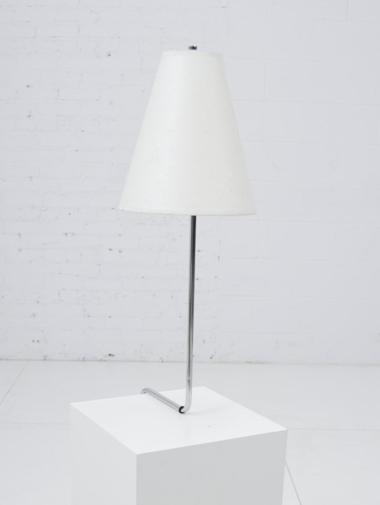 Minimalist Chrome Counterbalance Table Lamps For Sale 2