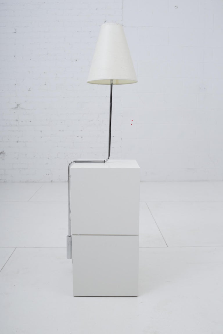 Minimalist Chrome Counterbalance Table Lamps For Sale 3